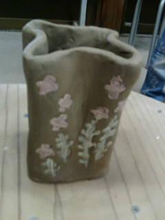 花瓶つくりました